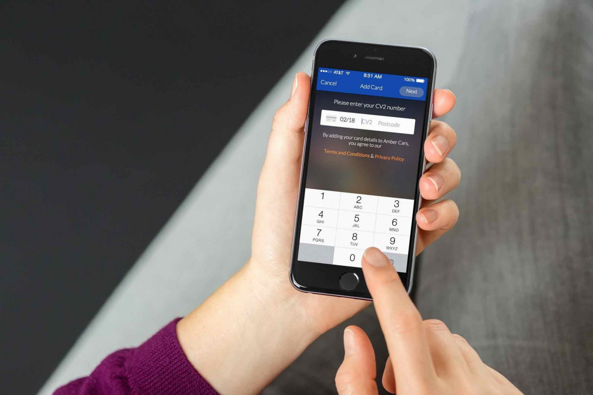 A simple user experience allows customers to securely add their cards in seconds