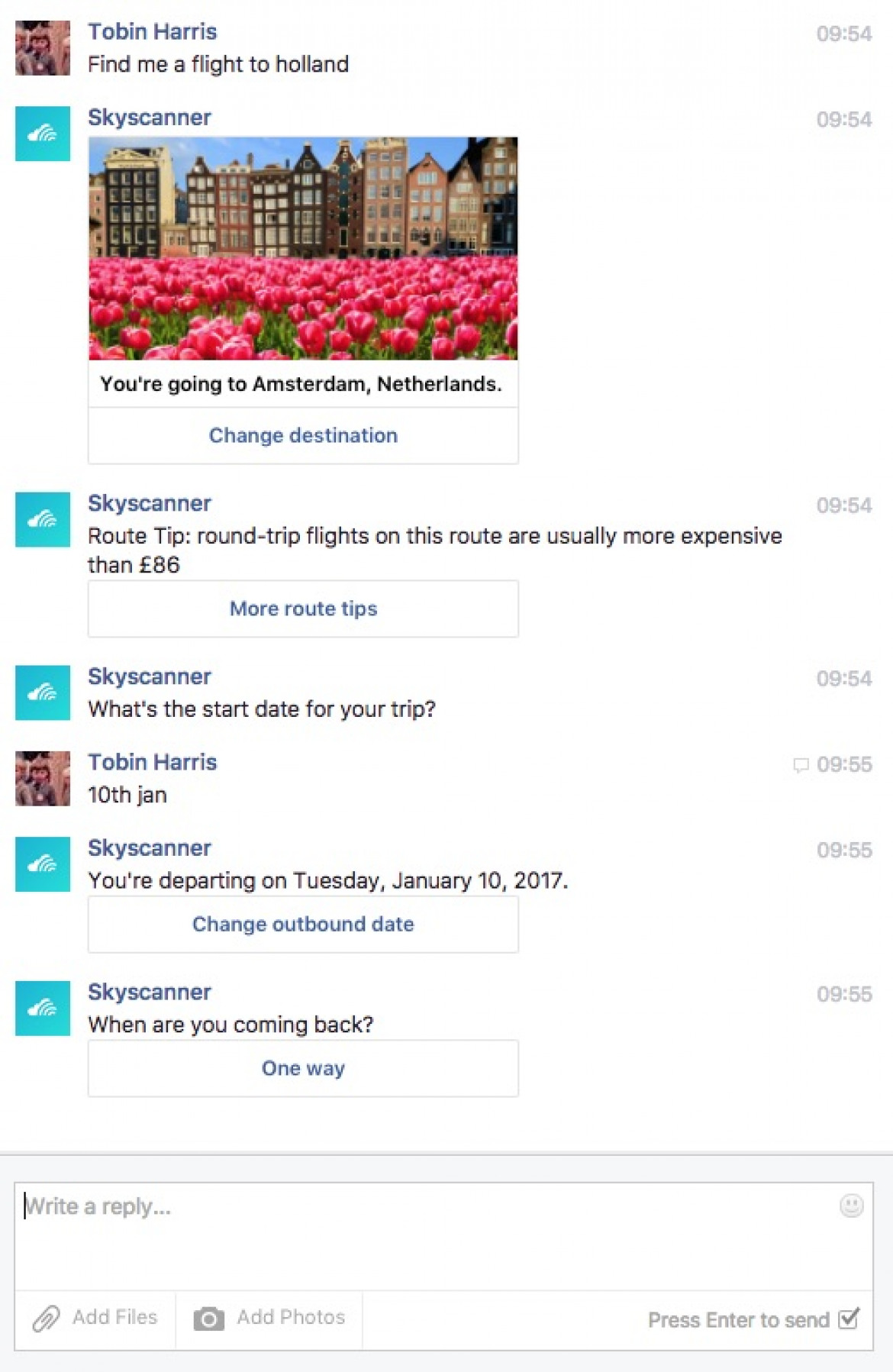 Developing a Facebook Messanger Chatbot